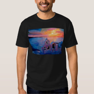 Santorini Greece View from Oia during Sunset Shirt