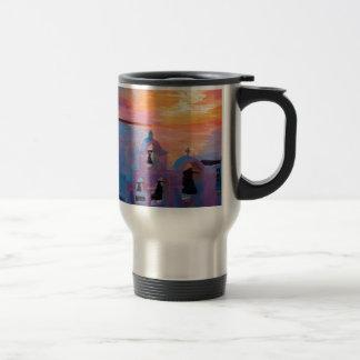 Santorini Greece View from Oia during Sunset Travel Mug