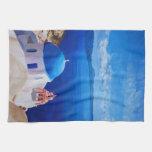 Santorini, Greece - View from Oia Kitchen Towel