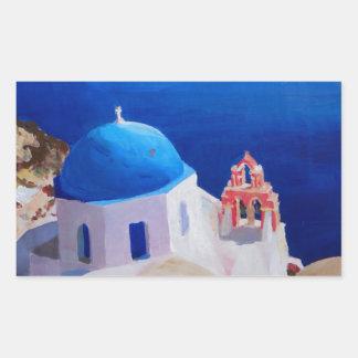 Santorini, Greece - View from Oia Rectangular Sticker