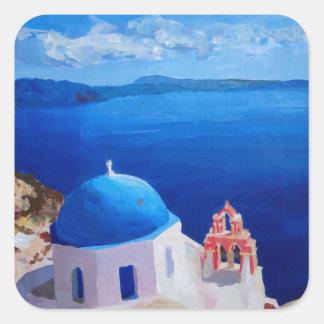 Santorini, Greece - View from Oia Square Sticker