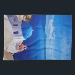 """Santorini, Greece - View from Oia Towel<br><div class=""""desc"""">The view of Oia,  Santorini,  Greece on the sea of the Cyclades. The island of Santorini represents more than a myth,  it is the embodiment of all the longing for a distant place. On an island,  with solitude,  sun and sea.</div>"""