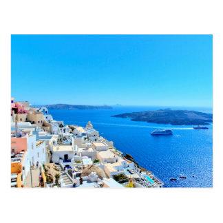 Santorini Greek Islands View Postcard