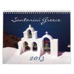 Santorini hermoso Grecia Calendarios
