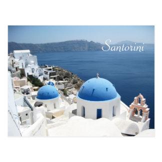 Santorini hermoso Grecia Postal