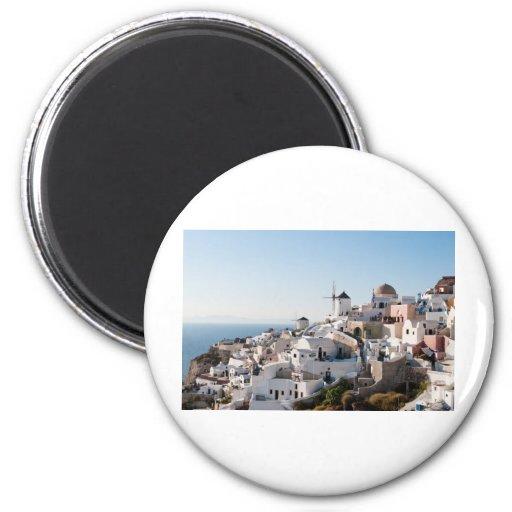 Santorini Imán Redondo 5 Cm