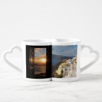 Santorini in the Afternoon Sun Coffee Mug Set