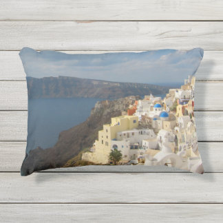Santorini in the Afternoon Sun Outdoor Pillow