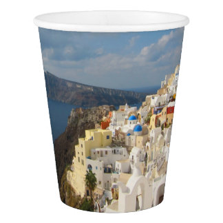 Santorini in the Afternoon Sun Paper Cup