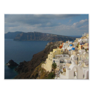 Santorini in the Afternoon Sun Poster