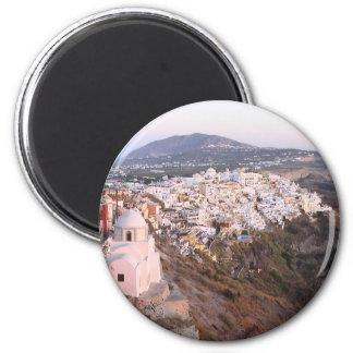 Santorini island before the sunset Greece Refrigerator Magnets