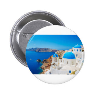 Santorini Island - Caldera, Greece Pinback Button