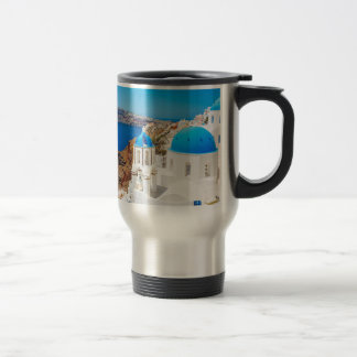 Santorini Island - Caldera, Greece Travel Mug
