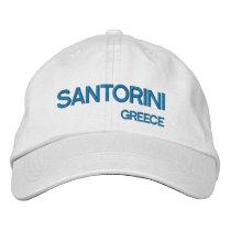 Santorini* Island Greece Blue & White Hat