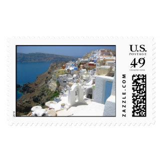Santorini island Greece Postage Stamp