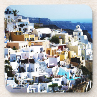 Santorini Island in Greece PHOTO Beverage Coaster