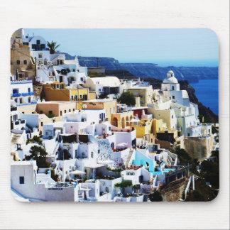 Santorini Island in Greece PHOTO Mouse Pad