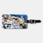 Santorini Island in Greece PHOTO Travel Bag Tags