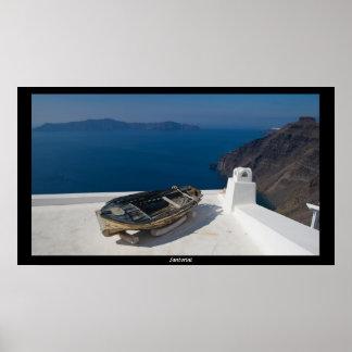 Santorini Island in the southern Aegean Sea Print