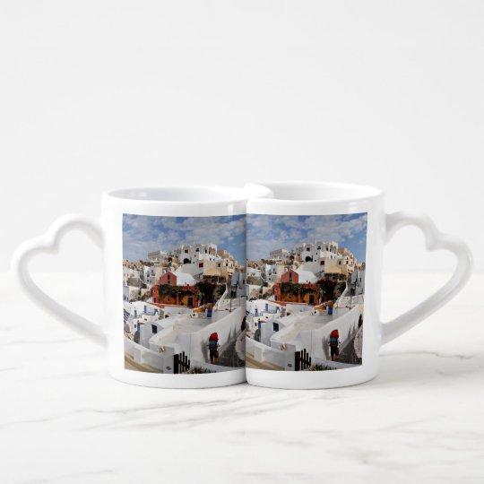 Santorini Island (Thira), Greece Coffee Mug Set