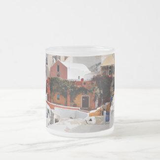 Santorini Island (Thira), Greece Frosted Glass Coffee Mug