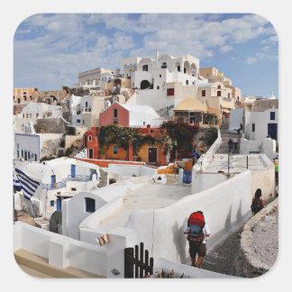 Santorini Island (Thira), Greece Square Sticker