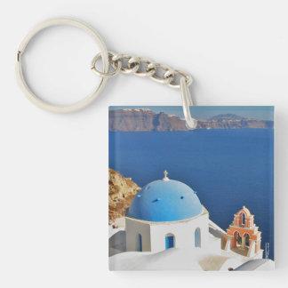 Santorini Keychain Acrylic Keychains