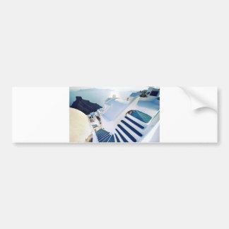 Santorini Oia Steps, Greece Bumper Sticker
