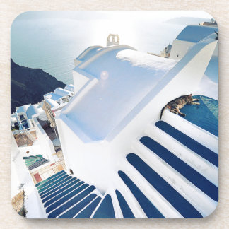 Santorini Oia Steps, Greece Coaster