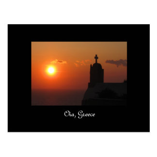 Santorini Oia Sunset Postcard