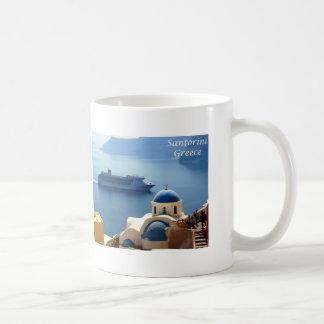 Santorini_Oia Taza Básica Blanca