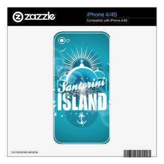 Santorini Paradise Island design iPhone 4 Decals