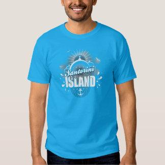 Santorini Paradise Island design T Shirt