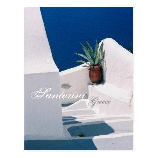 Santorini postal de Grecia