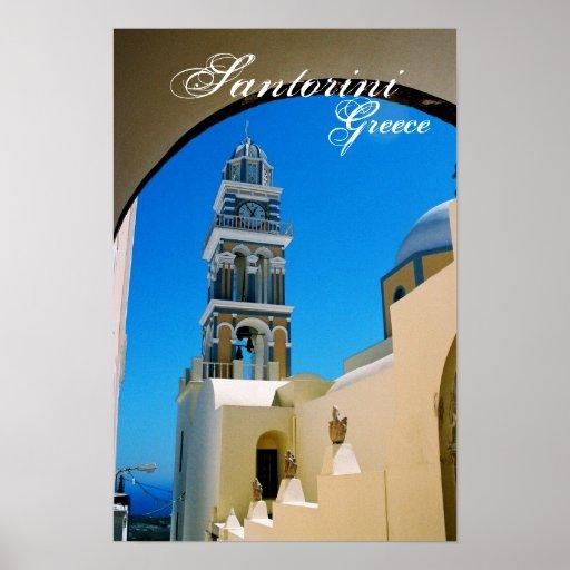 Santorini, poster de Grecia