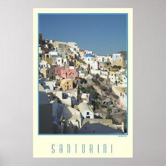 Santorini poster print