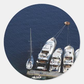Santorini – Ships Classic Round Sticker