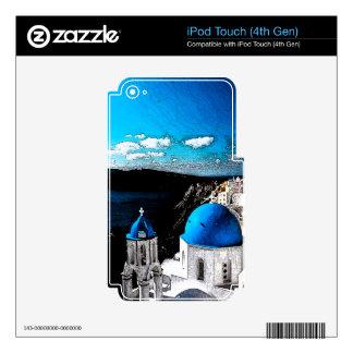 Santorini Skin For iPod Touch 4G