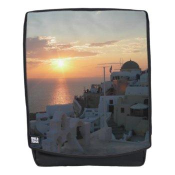 Santorini Sunset Adult Backpack by Edelhertdesigntravel at Zazzle