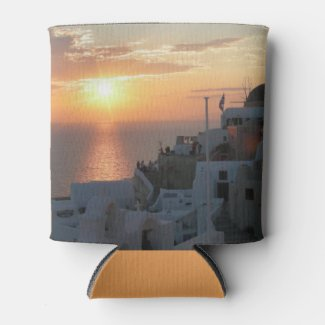 Santorini Sunset Can Cooler