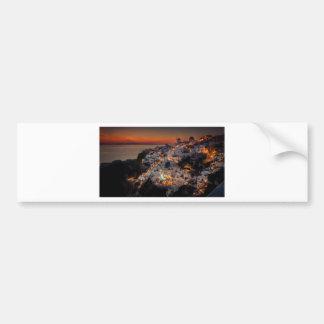 Santorini Sunset, Greece Bumper Sticker