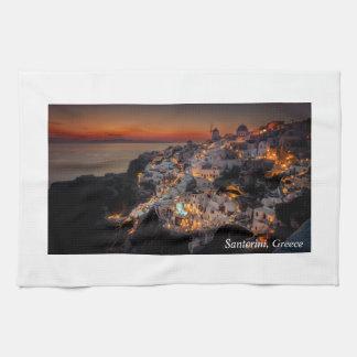Santorini Sunset, Greece Hand Towel