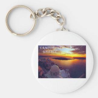 santorini sunset keychain