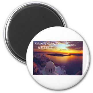 santorini sunset magnet