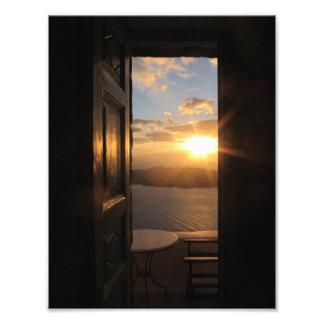 Santorini Sunset Photo Print