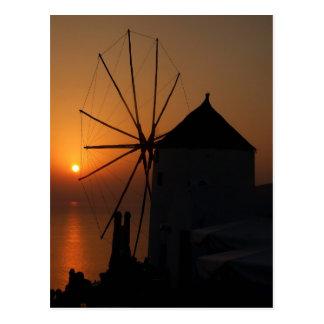Santorini sunset postcards