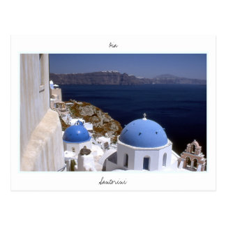 Santorini Tarjeta Postal