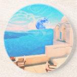 Santorini town Greece Coasters
