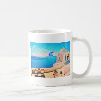 Santorini town Greece Classic White Coffee Mug