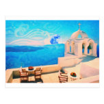 Santorini town Greece Postcard